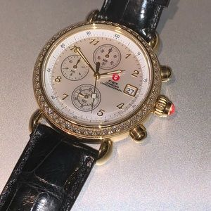 Classic Michele Watch -Gold & Diamonds